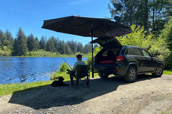 Fishing with Humbra Mobile Shade System